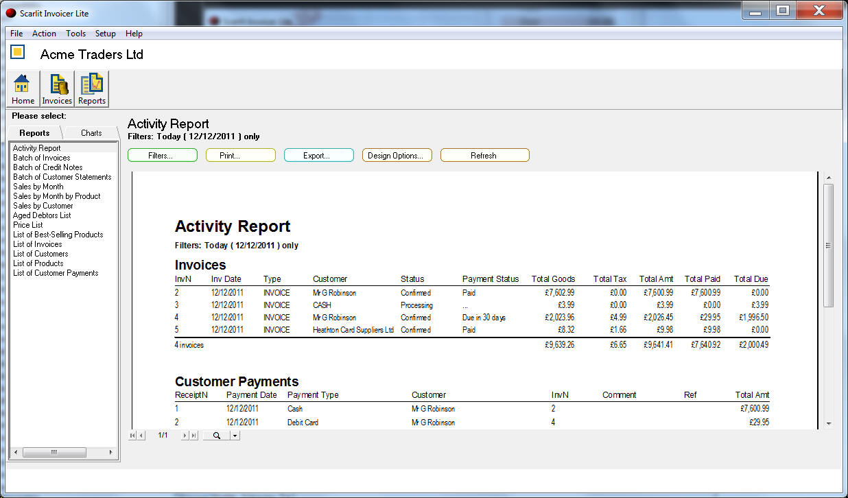 Bpa Free Receipts Pdf Business Software Program  Invoicing Software Sales Order Invoice Pdf with Creating A Receipt Excel See Larger Screenshots Receipts For Charitable Donations